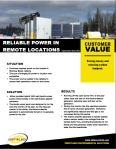 APP 11 RELIABLE POWER IN REMOTE LOCATIONS