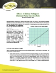 TECHNICAL BULLETINS 1 Effects of Battery Voltage on  Chemical Pump Injection Rate