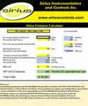 SIRIUS EMISSION CONTROL CALCULATOR